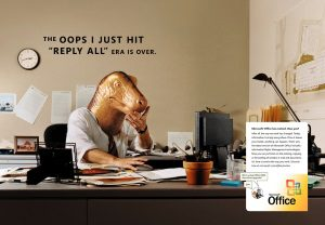 Microsoft Office 2003 - 2007 evolved dinosaur campaign