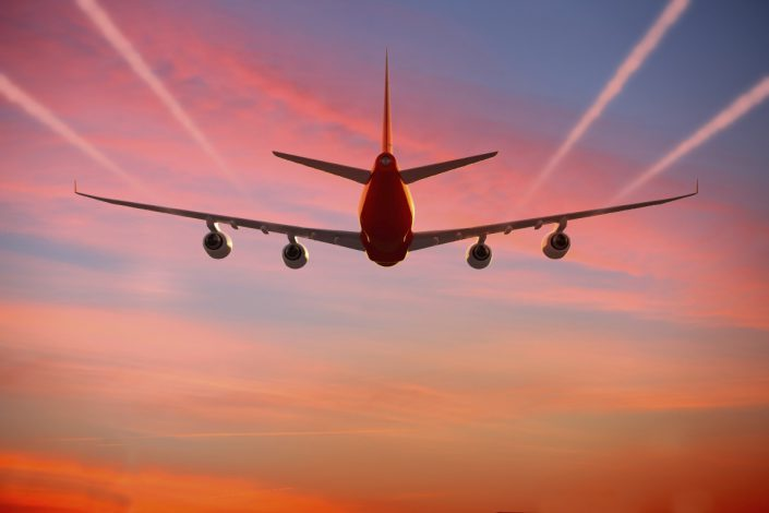 747 trailing sunset licensed by www.hjbconsulting.co.uk from istock.com