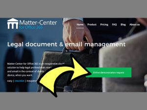matter-center.com smoke test call to action